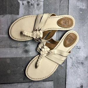 Frye Carson Twisted Cream Sandals